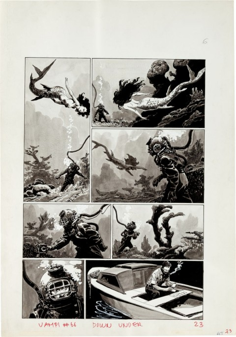 Vampirella issue 66 page 1 by Luis Bermejo.  Source.