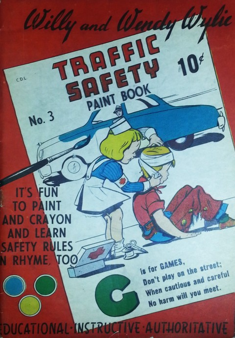 Willie and Wendy No. 3 colouring book by Bell from 1950