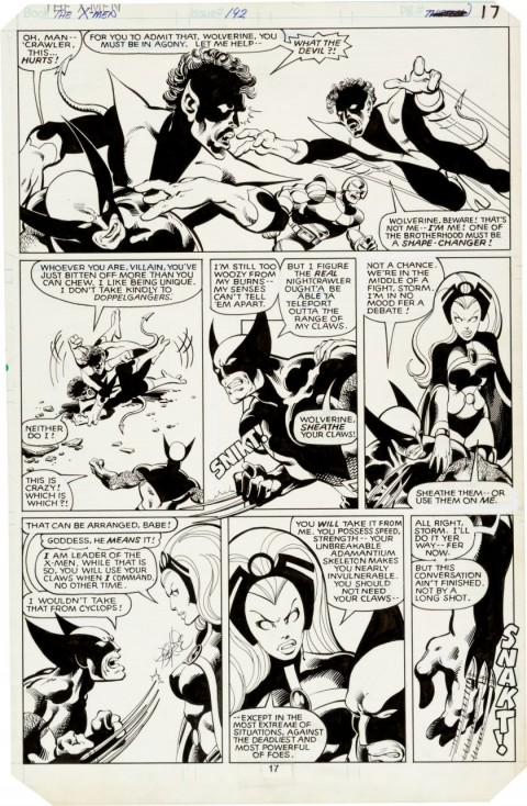 X-Men issue 142 page 17 by John Byrne and Terry Austin.  Source.