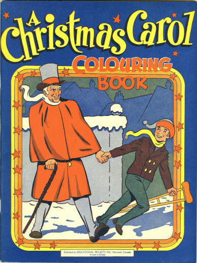 1945 Christmas Colouring Book by Educational Projects with Sid Barron art