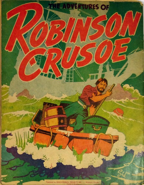 Educational Projects' Robinson Crusoe Paint Book with art by Sid Barron