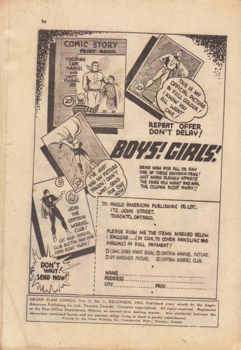 Back cover for Grand Slam Comics Vol. 3 No. 1