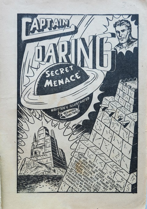The first Captain Daring splash from Lightning Comics No. 10
