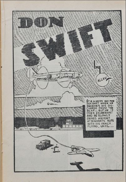 Ross Mendes' Don Swift splash from Lightning Comics 12