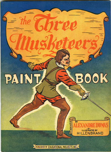 Educational Projects' Three Muskateers Paint Book with art by Joseph Hillenbrand