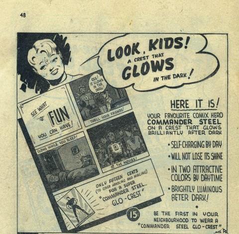 Back cover of Three Aces Comics Vol. 4 No. 1