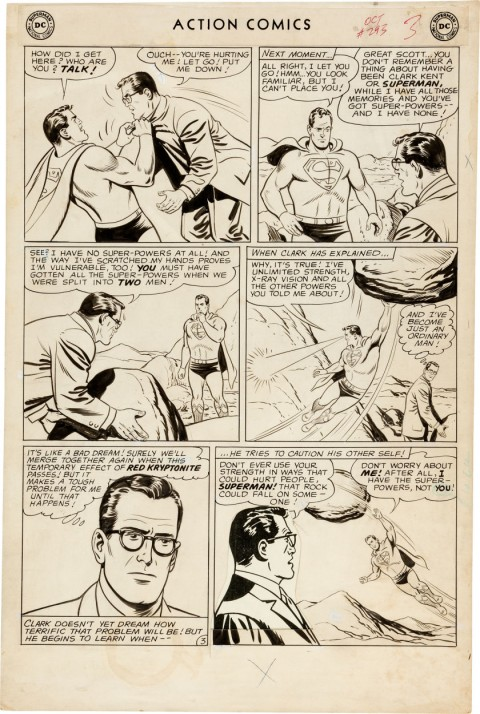 Action Comics issue 293 page by Al Plastino.  Source.