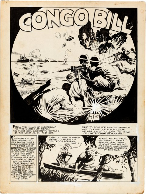 Action Comics issue 48 Congo Bill page 1 by Fred Ray.  Source.