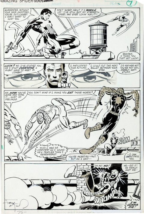 Amazing Spider-Man Annual issue 15 page 7 by Frank Miller and Klaus Janson.  Source.
