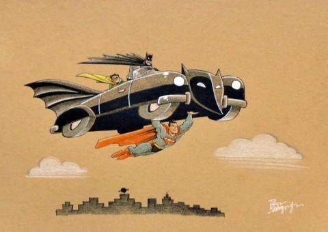 Batmobile by Roger Langridge.  Source.