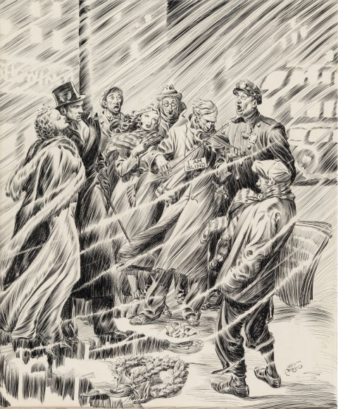 Christmas Story Magazine Illustration by Alex Raymond.  Source.