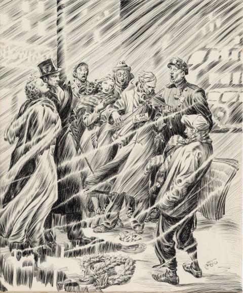 Christmas Story Magazine Illustration by Alex Raymond.  Source.