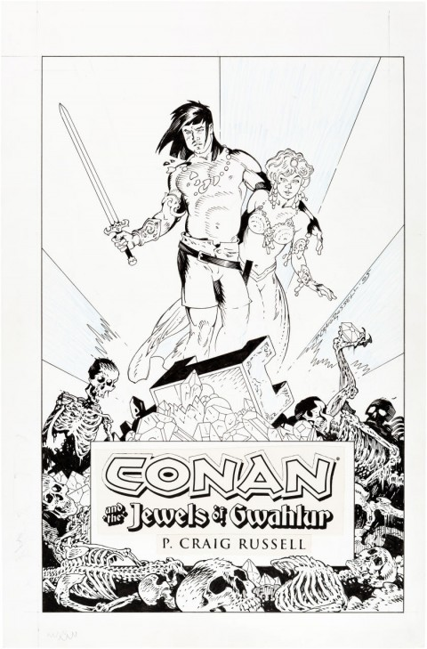 Conan and the Jewels of Gwahlur cover by P. Craig Russell.  Source.