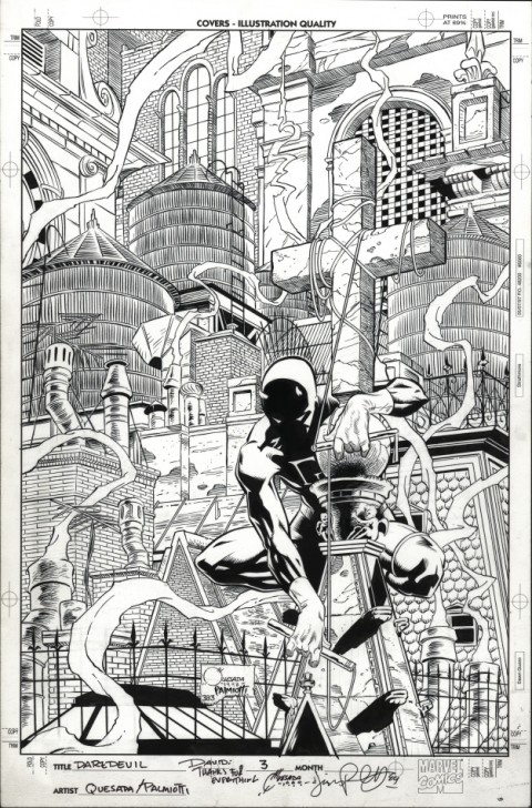 Daredevil issue 3 cover by Joe Quesada and Jimmy Palmiotti.  Source.
