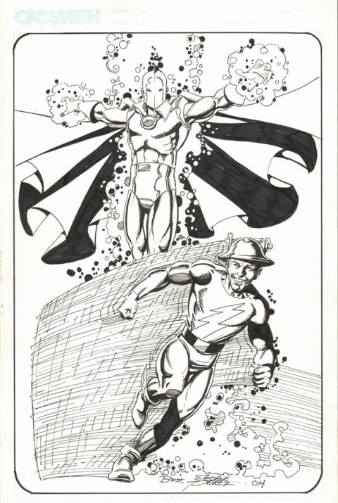 Dr. Fate and Flash by George Perez.  Source.