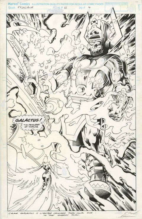 Excalibur issue 61 page 4 by Alan Davis and Mark Farmer.  Source.