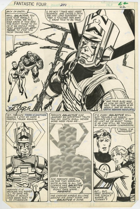 Fantastic Four issue 244 page 22 by John Byrne.  Source.