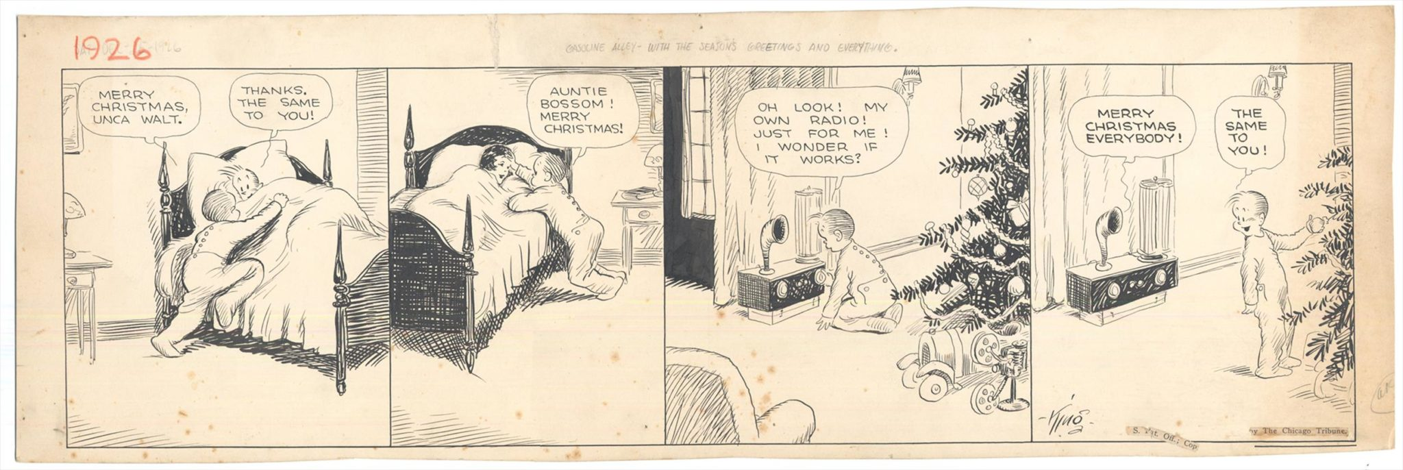 Gasoline Alley 12-25-1926 by Frank King