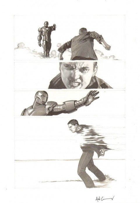 Iron Man Extremis issue 3 page 14 by Adi Granov