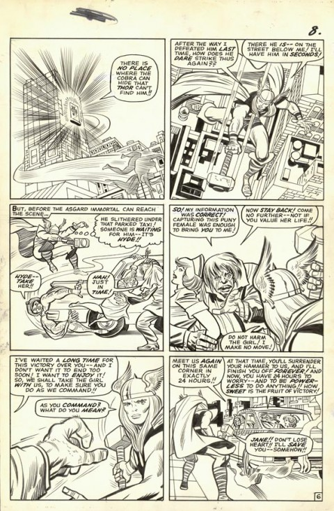Journey Into Mystery issue 110 page 6 by Jack Kirby and Chic Stone.  Source.