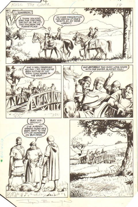 Kull The Conqueror issue 4 page 18 by John Bolton.  Source.