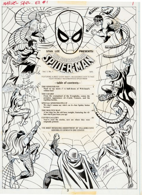 Marvel Treasury Edition issue 1 page 3 by John Romita.  Source.