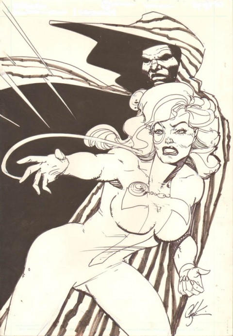 Mutant Misadventures Of Cloak And Dagger issue 9 pin-up by Howard Chaykin.  Source.