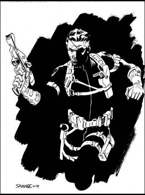 Nick Fury by Chris Samnee.  Source.