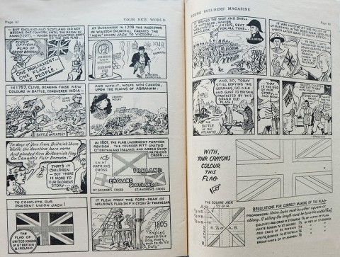 "Last two pages of the ""Origin of the Canadian Flag"" story"
