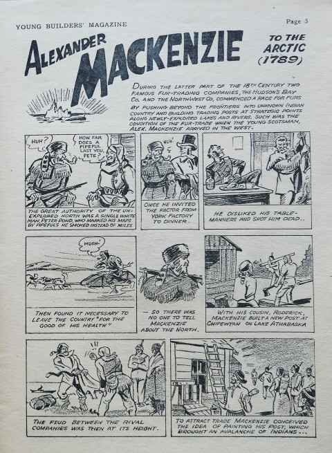 Splash page of the Alexander MacKenzie story.