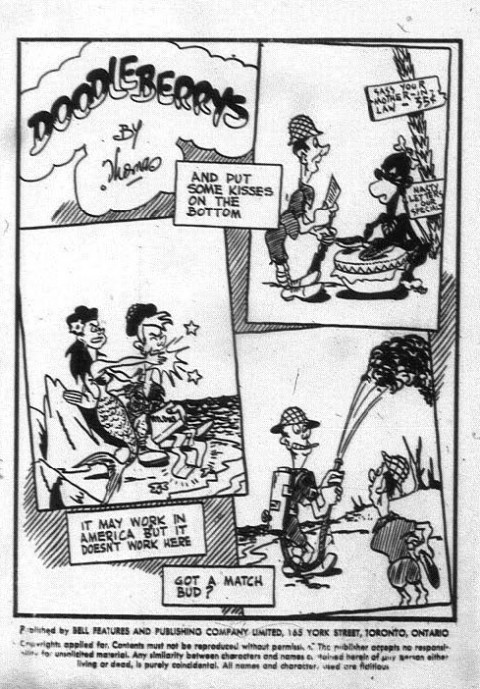 Inside front cover cartoon from one of the versions of The Funny Comics 19