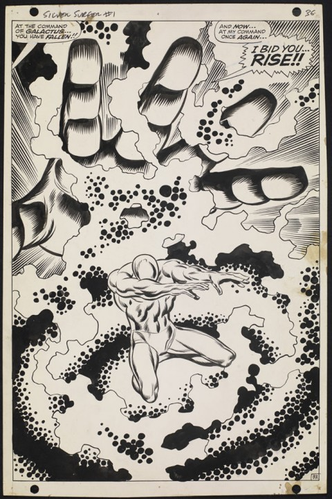 Silver Surfer issue 1 page 36 by John Buscema and Joe Sinnott