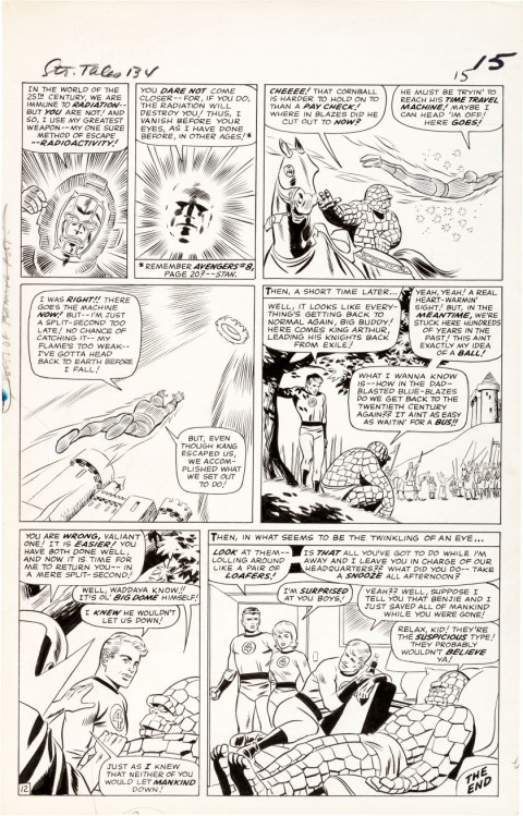 Strange Tales issue 134 page 12 by Bob Powell and Wally Wood.  Source.
