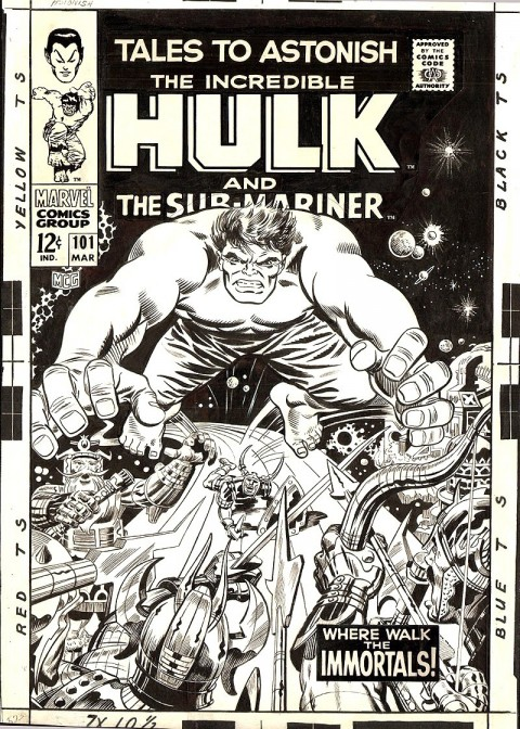 Tales To Astonish issue 101 cover by Marie Severin, Jack Kirby, Syd Shores and Frank Giacoia.