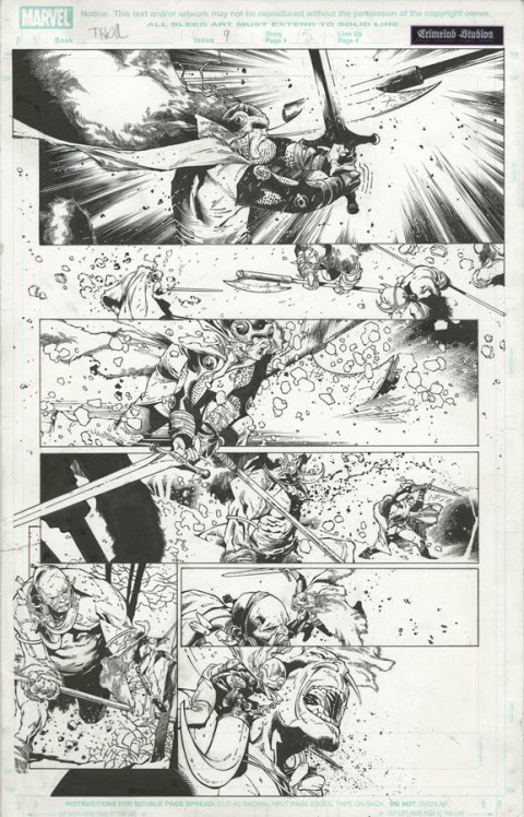 Thor issue 9 page 5 by Olivier Coipel and Danny Miki.  Source.