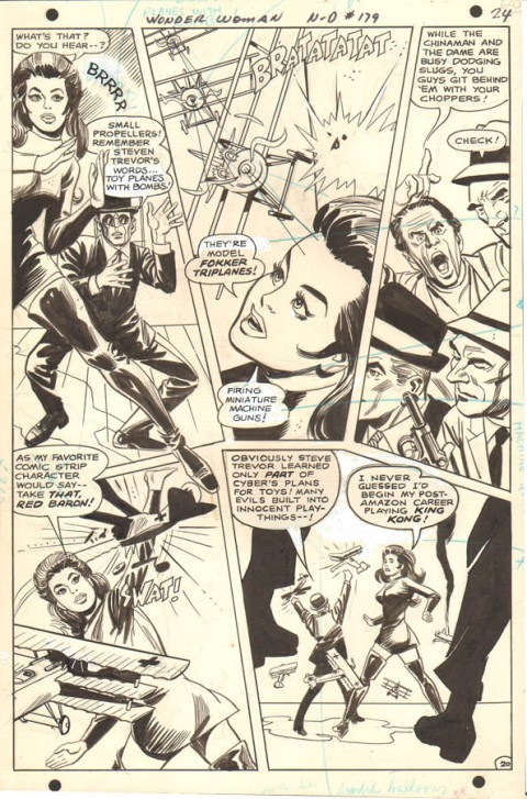 Wonder Woman issue 179 page 20 by Mike Sekowsky and Dick Giordano.  Source.