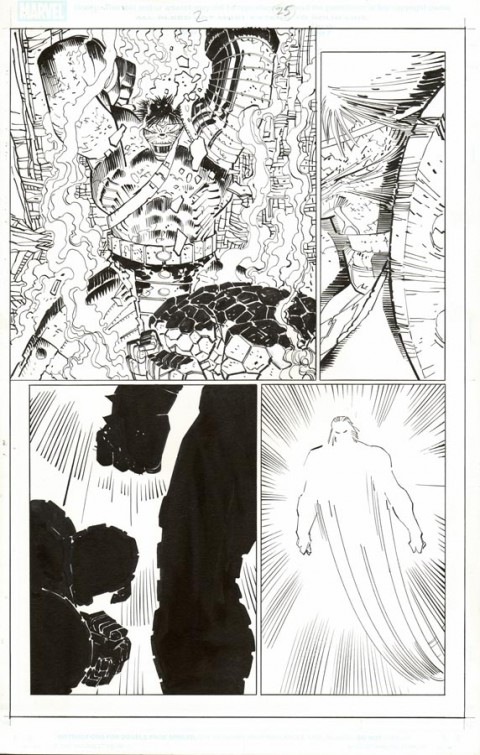 World War Hulk issue 2 page 25 by John Romita Jr and Klaus Janson.  Source.