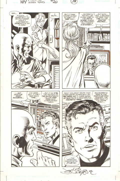 X-Men: The Hidden Years issue 20 page 19 by John Byrne and Tom Palmer.  Source.
