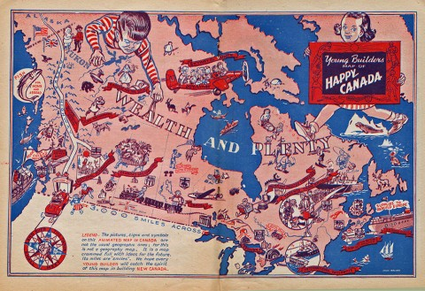 Ernie Walker's great map of Canada, the highlight of the comic.