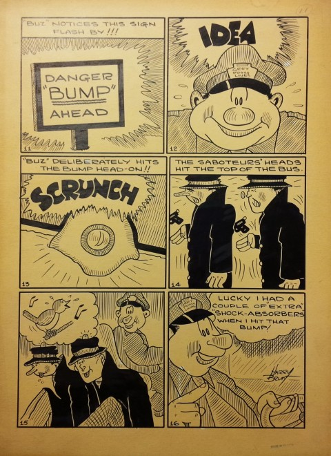 Harry Brunt original for Buz and his Bus from Wow 25