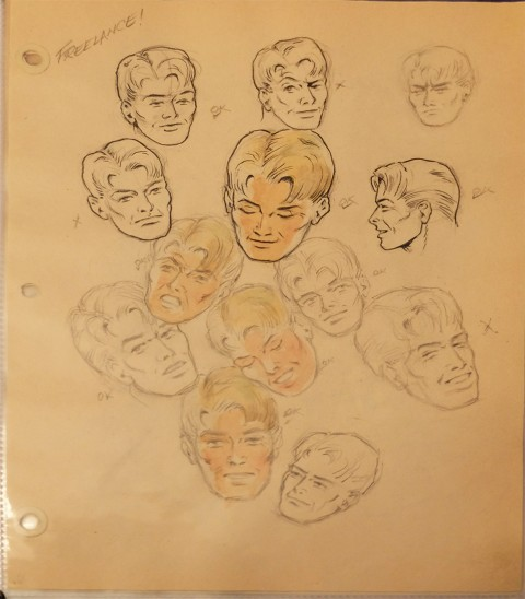 Ed Furness Sketchbook with Freelance head studies