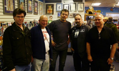 The gang, Jim Finlay, Me, Walt Durajlija, Tony Adrews, and Stephen LIpson