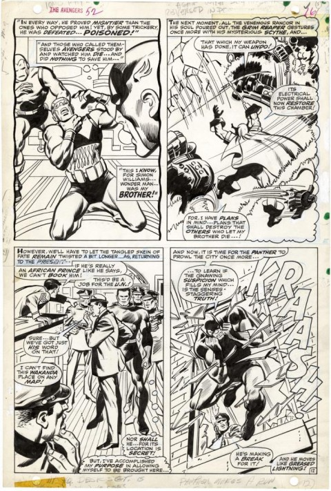 Avengers issue 52 page 12 by John Buscema and Vince Colletta