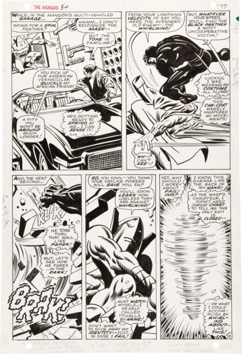 Avengers issue 54 page 17 by John Buscema and George Klein