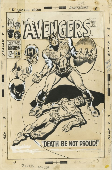 Avengers issue 56 cover by John Buscema and Frank Giacoia