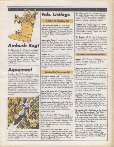 DC Releases Feb '86 Page 2