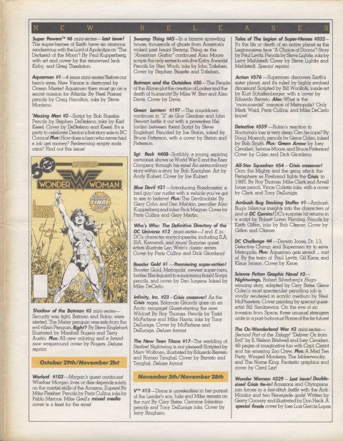 DC Releases Feb '86 Page 3