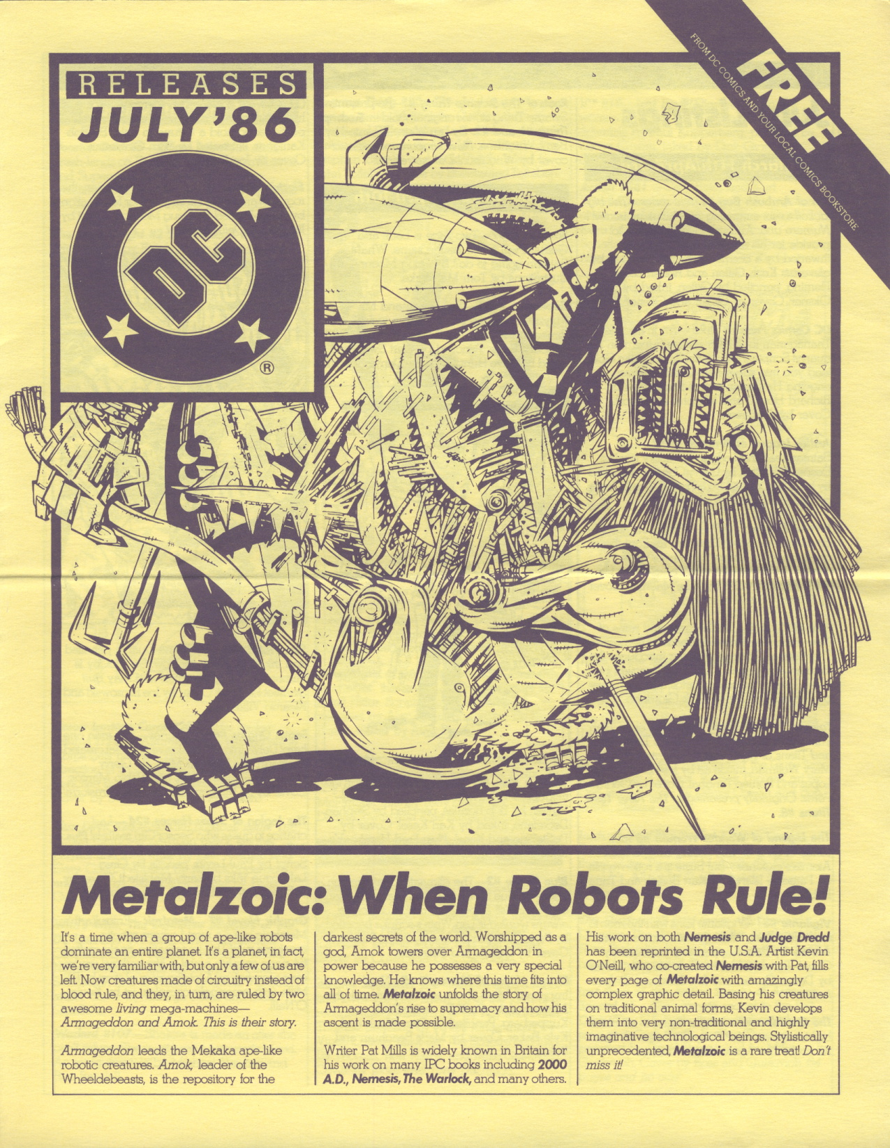 Time Capsule: DC Releases July '86