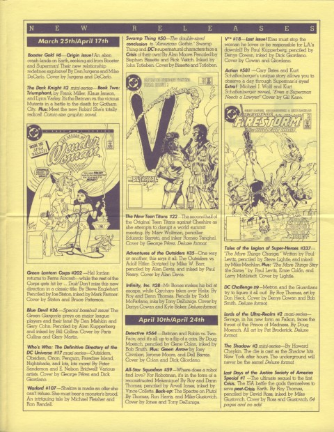 DC Releases July '86 Page 3