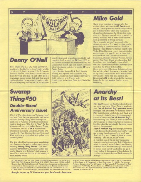 DC Releases July '86 Page 4